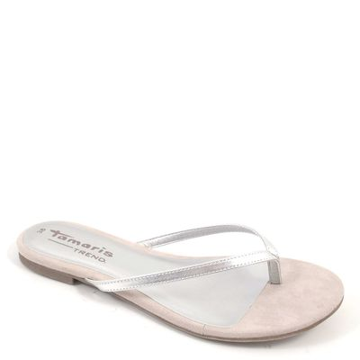 Tamaris / Zehentrenner Silber - Zehen-Sandalette Silver - Schlappen