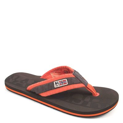 NAPAPIJRI / Zehentrenner Orange-Braun - TOLEDO DARK BROWN ORANGE - Herren Sandalen