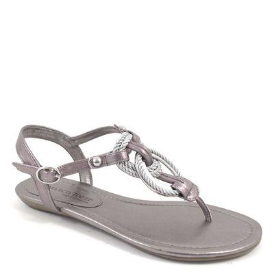 Marco Tozzi / Sandale Silber m. Kordeln - Sandalette Pewter