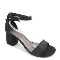 Marco Tozzi / Sandalette Schwarz mit Glimmer - Elegante Sandaletten Black Comb