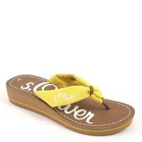 s.Oliver / Pantolette Gelb - Zehentrenner Yellow - Zehenstegpantolette