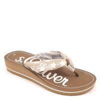 s.Oliver / Pantolette Beige m. Sternen - Zehentrenner Pepper - Sandalen Sternchen