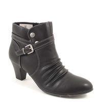 s.Oliver / Stiefelette Schwarz - elegante Ankle Boots Black - Raffung