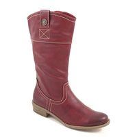s.Oliver / Stiefel Rot - Boots Bordeaux - Halbstiefel Western-Stil