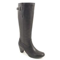 Caprice / Stiefel Black - elegante Damenstiefel Schwarz - Lederstiefel Vario-Schaft