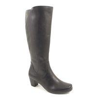 Caprice / Damenstiefel Schwarz - elegante Stiefel Black Antic - Lederstiefel