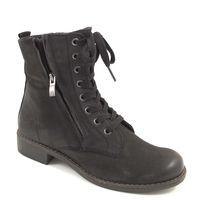 Caprice / Schnürstiefelette Schwarz - Boots m. Schnürung Black Nubuc