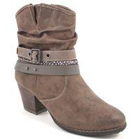 s.Oliver / Stiefeletten Braun - Ankle Boots Cigar - Riemen, Schnalle, Flecht