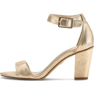 Tamaris / Glamour-Sandalette Gold, Riemchensandalette