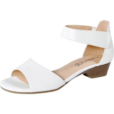 Caprice / Sandalette Weiss - Flache Sandalette Wollweiss