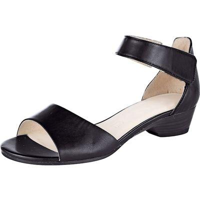 Caprice / Sandalette Schwarz - Flache Sandalette mit Klettverschluss