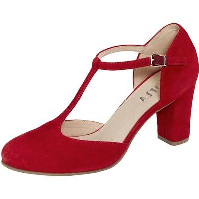 Caprice / Spangenpumps Caprice Rot - Flamenco-Pumps T-Strap Red