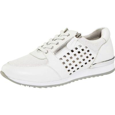 Caprice / Sneaker mit Lochung und Reissverschluss Weiß