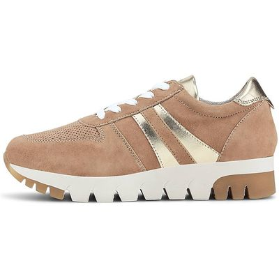 Tamaris / Sneaker Camel-Gold, Damen-Schnürschuhe