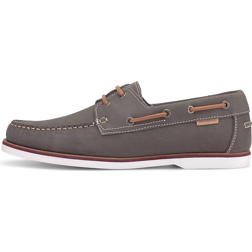 Marc O'Polo / Mokassin Grau - Boatshoes Veloursleder