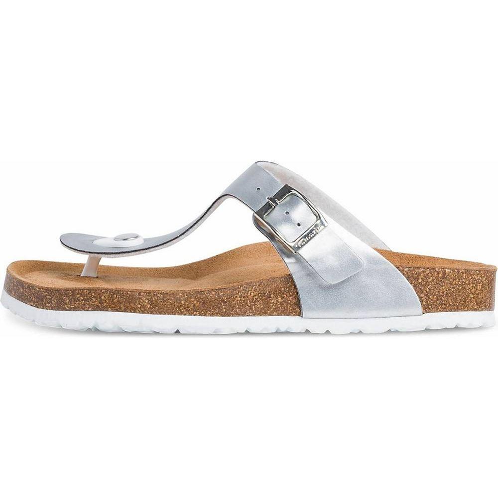 Tamaris / Zehentrenner Silber, Sandalen für Damen Silver