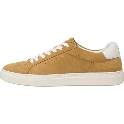 Marc O'Polo / Cupsohlen-Sneaker aus Tumbled-Rindsleder Sand-Beige, Sneaker Curry
