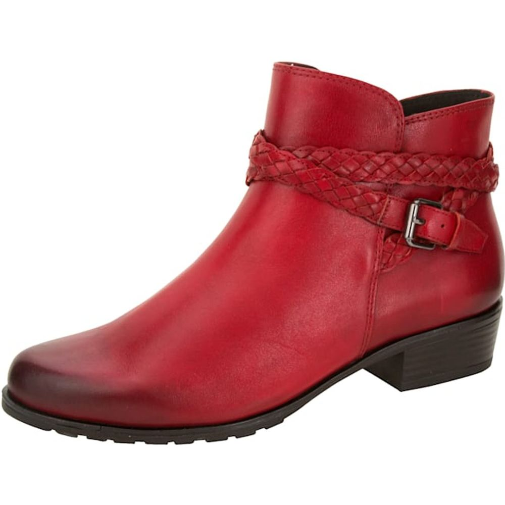 Caprice / Stiefelette Rot aus Leder  - Stifel Red