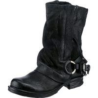 A.S.98 / Cowboy-Bikerstiefelette Schwarz, Westernstiefeletten Black