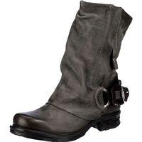 A.S.98 / Cowboy-Bikerstiefelette Grau, Westernstiefeletten Gray
