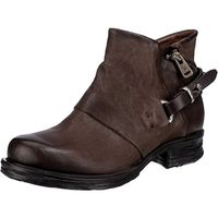 A.S.98 / Biker Boots Dunkelbraun, Western Stiefeletten Dark Braun