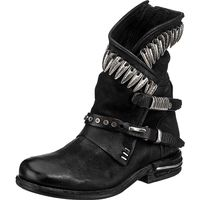 A.S.98 / Biker Boots Schwarz m. Applikationen, Westernstiefeletten Black